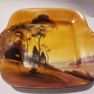 Antique Handpainted Japan sunset dish/plate